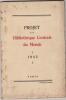 Projet d'une bibliothèque centrale du monde, 1945 . Association pour l'étude des questions bibliographiques (Paris)