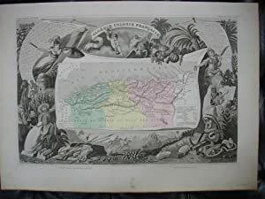Carte de l'ALGÉRIE,. LEVASSEUR V.