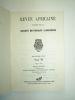Revue Africaine publiée par la Société Historique Algérienne. Numéro 70. Collectif