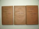 Cavour et l'Unité Italienne. Tomes 1, 2 et 3. Complet. MATTER Paul