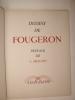 Dessins de Fougeron. Préface originale de Louis Aragon. Exemplaire numéroté.. FOUGERON, ARAGON (Préface)