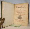 Recueil d'ouvrages curieux de Mathématique et de Mécanique ou Description du cabinet de Monsieur Grollier de Servière.. GROLLIER DE SERVIERE ...