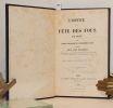 L'Office de la fête des Fous. Publié d'après le manuscrit de la bibliothèque de Sens.. BOURQUELOT (Félix).