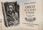 Gréco ou le secret de Toléde.. [DECARIS (Albert)] BARRES (Maurice).