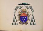 Armorial ecclésiastique représentant les armoiries des évêques de Lisieux (et Bayeux) (XII ème au XIXème siècle)..
