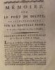 Collection de mémoires et de plans relatifs au port de Dieppe.. ([DIEPPE].) [LAMANDE (François-Laurent)]