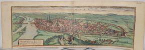 ROAN.  ROTOMAGUS, VULGO ROAN, NORMANDIAE METROPOLIS. (Rouen).. [ROUEN] HOEFNAGEL (Georg).