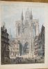 Cathédral - Rouen. South entrance.. CONEY (John).
