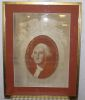 Portrait de George WASHINGTON,  imprimé sur soie (silk)..
