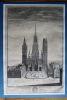 Vûe du Grand Portail de l'Eglise Metroplolitaine de Rouen, large de 170 pieds y compris les deux tours hautes d'environ 236 pieds et la Pyramide 395 ...