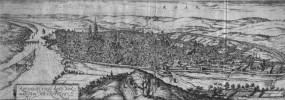 ROAN.  ROTOMAGUS, VULGO ROAN, NORMANDIAE METROPOLIS. (Rouen).. HOEFNAGEL (Georg).
