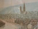 Vue de Rouen prise de la Côte de Bon Secours.. BONINGTON ( d'après Richard-Parkes).