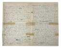 L.A.S., Nohant 2 mai [18]52, [à l'acteur Henri Lafontaine]; 4 pages in-8 très remplies d'une petite écriture à l'encre bleue (petites fentes réparées ...