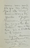 L.A.S., à un destinataire inconnu, le 11 septembre 1859.. ADAM. Juliette.