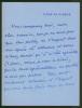 2 L.A.S., 16 et 18 décembre 1919, à Maurice Bernhardt.. DECOURCELLE Pierre (1856-1926), écrivain et auteur dramatique français.