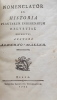 Nomenclator ex historia plantarum indigenarum helvetiae.. HALLER (Alberto v.) [Albrecht von]