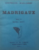 Madrigaux.. MALLARME (Stéphane) & DUFY (Raoul)