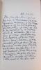 Lettres à Jean Rousselot, suivies de Pierre Reverdy romancier, ou quand le poète se dédouble par Jean Rousselot.. REVERDY (Pierre)