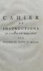 Cahier et instructions de l'ordre du Tiers-Etat des bailliages de Mantes et Meulan, remis le 26 mars 1789, à MM. Meunier du Breuil, Lieutenant-Général ...