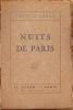 NUITS DE PARIS.. CARCO FRANCIS. (CARCOPINO-TUSOLI, DIT. 1886-1958).