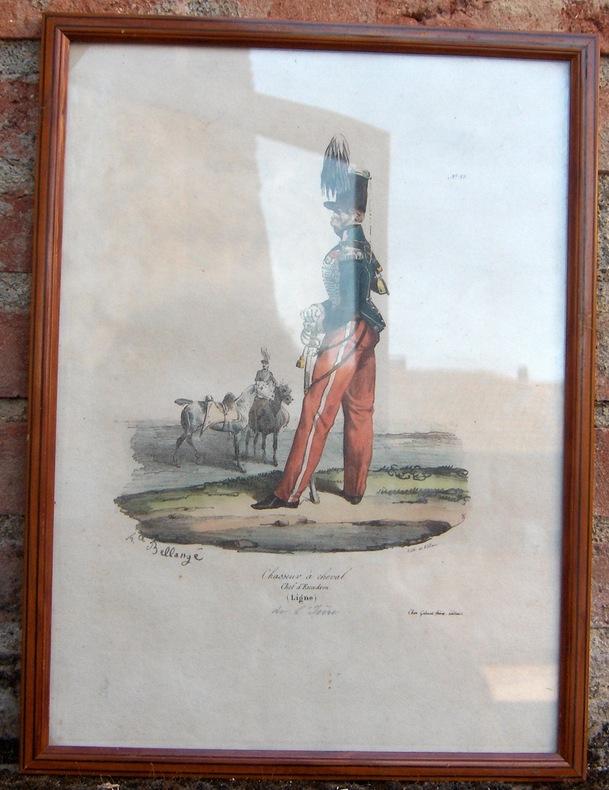 """CHASSEUR A CHEVAL. CHEF D""""ESCADRON (LIGNE).  . BELLANGE HIPPOLYTE (1800-1866)."""