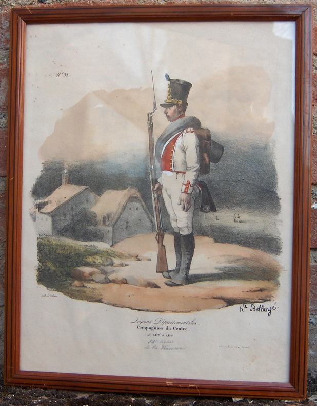 LEGIONS DEPARTEMENTALES. COMPAGNIES DU CENTRE, DE 1816 A 1820.  GIHAUT. SANS DATE (VERS 1831. IMPRIMERIE LITHOGRAPHIQUE DE VILLAIN).. BELLANGE ...