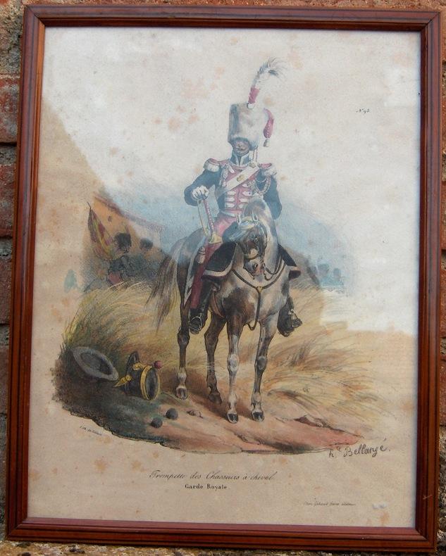 TROMPETTE DES CHASSEURS A CHEVAL. GARDE ROYALE. . BELLANGE HIPPOLYTE (1800-1866).