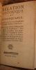 RELATION EXACTE ET CIRCONSTANCIEE DE LA PROCESSION FAITE A TOULOUSE LE 17 MAI 1762. A L'OCCASION DU VOEU SECULAIRE DE LADITE VILLE LORS DE L'EXPULSION ...