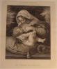 LA VIERGE AU COUSSIN. ANDREA SALARIA PINX, GIRAUD SCULPIT.. SOLARI (OU SOLARIO ANDREA. 1460-1524).