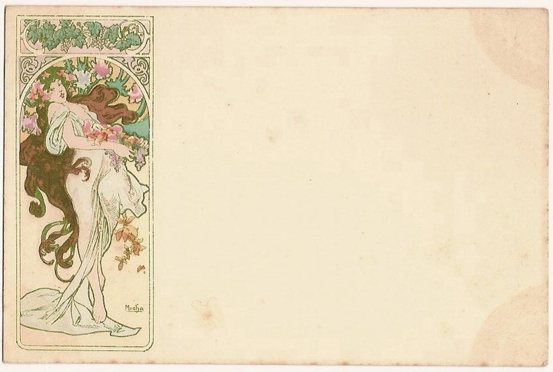 AUTOMNE. (NEUDIN 1991. C17). AUTUMN. (CATALOGUE RAISONNE BOWERS-MARTIN. 425). . MUCHA ALPHONSE (1860-1939).