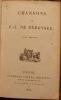 CHANSONS DE P.-J. DE BERANGER.. BERANGER (PIERRE-JEAN DE. 1780-1857).