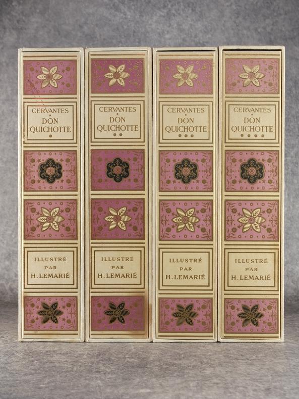 L'INGENIEUX HIDALGO DON QUICHOTTE DE LA MANCHE. ILLUSTRATIONS DE HENRY LEMARIE. . CERVANTES. (MIGUEL DE. 1547-1616).