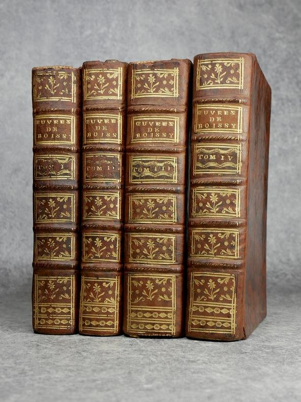 OEUVRES DE MONSIEUR DE BOISSY, CONTENANT SON THEATRE FRANCOIS & ITALIEN. NOUVELLE EDITION, REVUE, CORRIGEE & AUGMENTEE DE PLUSIEURS PIECES NOUVELLES.. ...