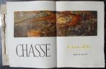 CHASSE. MAURICE GENEVOIX DE L'ACADEMIE FRANCAISE PRESENTE LES TEXTES DE J. A. CLAMART, ILLUSTRES DE COMPOSITIONS ORIGINALES GRAVEES SUR BOIS DE JEAN ...