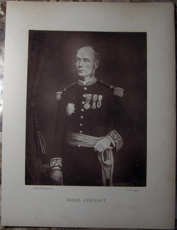 AMIRAL COURBET (AMEDEE. 1827-1885).  . APPERT EUGENE.