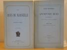 LES RUES DE MARSEILLE. - NOTICE HISTORIQUE SUR LES ANCIENNES RUES DE MARSEILLE démolies en 1862 pour la création de la Rue Impériale. ( 6 volumes ).. ...