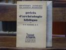 Précis d'archéologie biblique.. BARROIS A.-G.