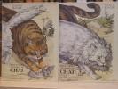 BIBLIOTHÈQUE ILLUSTRÉE DU CHAT ou comment les philosophes, les écrivains et les artistes se sont représenté le chat depuis 5000 ans. ( 2 volumes ). ...