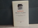 Oeuvres en prose. Tome I.. APOLLINAIRE Guillaume
