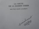 La Chute de la Maison Usher, suivie d'autres Nouvelles extraordinaires. Illustrations de DUBOUT. Envoi autographe signé de DUBOUT.. POE Edgar Allan - ...