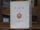 ELËN. Drame en trois actes. Edition décorée de compositions originales dessinées et gravées sur bois par Louis JOU.. VILLIERS DE L'ISLE-ADAM Jean ...