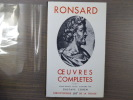Oeuvres complètes. Tome I.. RONSARD