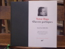 OEUVRES POETIQUES. Tome I. Avant l'exil 1802-1851.. HUGO Victor