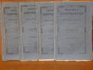 BIBLIOTHEQUE UNIVERSELLE des Sciences, Belles-Lettres et Arts, rédigée à Genève. Année 1834. 12 volumes, année complète.. BIBLIOTHEQUE UNIVERSELLE