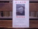 PROPOS.. ALAIN