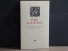 Poètes du XVIe Siècle.. POETES DU XVIe SIECLE