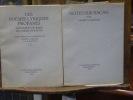 Les Poésies lyriques profanes. Texte publié sous la direction de Valery LARBAUD & A.A.M. STOLS. [Suivi de]: Notes sur RACAN par Valery LARBAUD.. RACAN ...