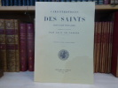 Caractéristiques des saints dans l'art populaire, énumérées et expliquées. fascicule VII. ( Livre à Patrons divers ).. CAHIER Charles
