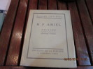 Philine. Fragments inédts du Journal intime.. AMMIEL H.F.
