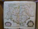 Carte géographique. La Provence divisée en ses vigueries et terres adjacentes sur mes Mémoires les plus Nouveaux. Présenté à Monseigneur le Duc de ...